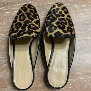 Micheal Kors Leopard Flat Mules